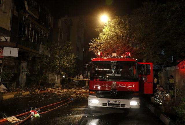 مصدومیت دو نفر در آتشسوزی مجتمع مسکونی در تبریز