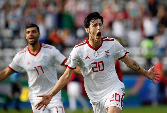 مهاجم تیم ملی فوتبال مهمان پژمان جمشیدی