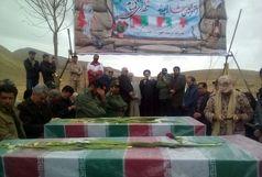 مراسم وداع با 2 شهید گمنام دفاع مقدس در رازقان برگزار شد
