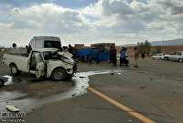 یک کشته و 2 مصدوم در حادثه رانندگی محور نهبندان - شوسف