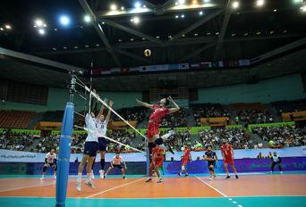 مسابقات والیبال قهرمانی آسیا ، ایران - کره جنوبی