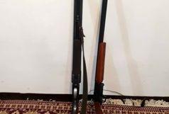 کشف دو قبضه سلاح قاچاق از متخلفان در صومعه سرا