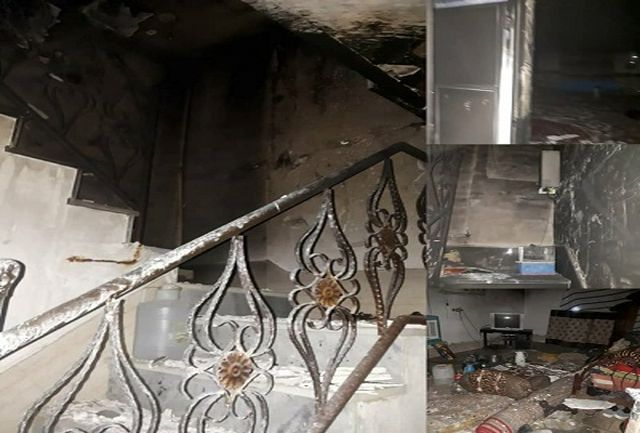 نجات 5 شهروند زاهدانی از میان دود و آتش
