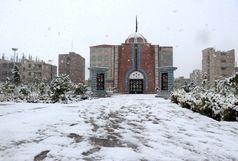 بارش شدید برف در شهر فرون آباد