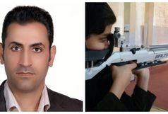 سلاح حرفه ای والتر LG400هدیه مدیر کل ورزش و جوانان لرستان به هیات تیراندازی استان