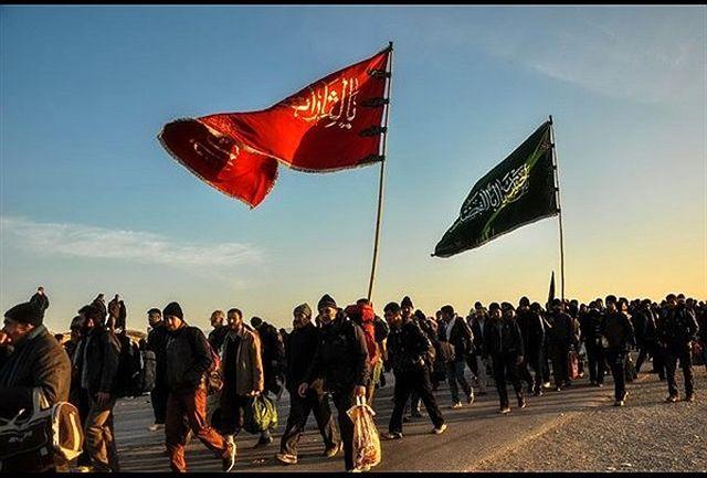 پیادهروی دانشجویان دانشگاه آزاد اسلامی به سوی حرم مطهر رضوی