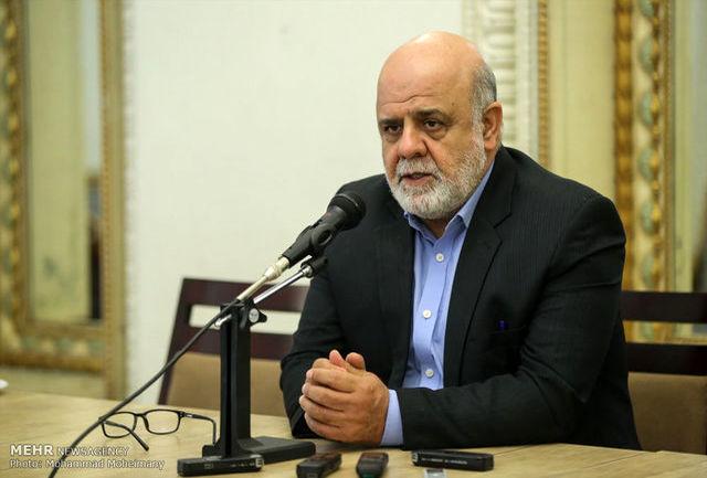 سفیر ایران درعراق درگذشت «روژ نوری شاویس»را به مسعود بارزانی تسلیت گفت