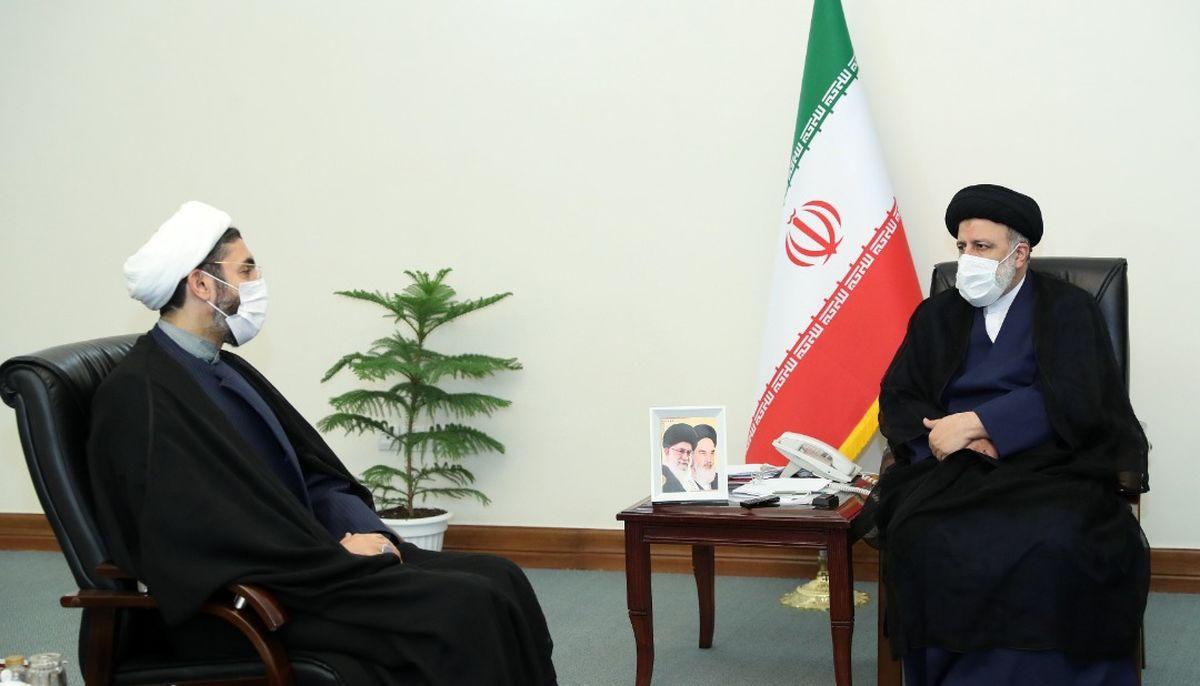 دیدار دبیر شورای عالی فضای مجازی و رئیس نهاد نمایندگی رهبری در دانشگاه ها با رئیسی