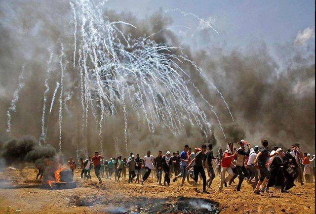 ۲ شهید و ۲۵۰ زخمی در تظاهرات غزه