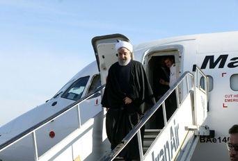 ورود رئیس جمهوری به فرودگاه خوی