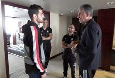پورعلی گنجی در اردوی تیم ملی