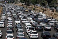 ترافیک نیمه سنگین در آزادراه های منتهی به تهران