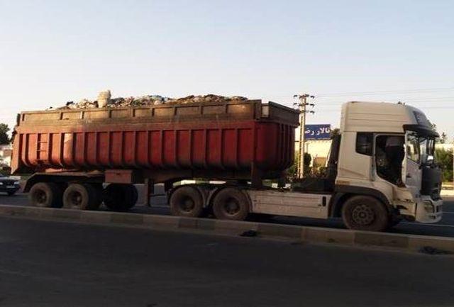 توقیف دودستگاه سیم تریل حمل زباله غیر استاندارد در ملارد