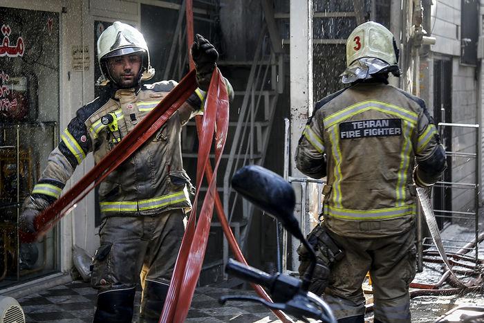 آتش سوزی گسترده در محله شوش