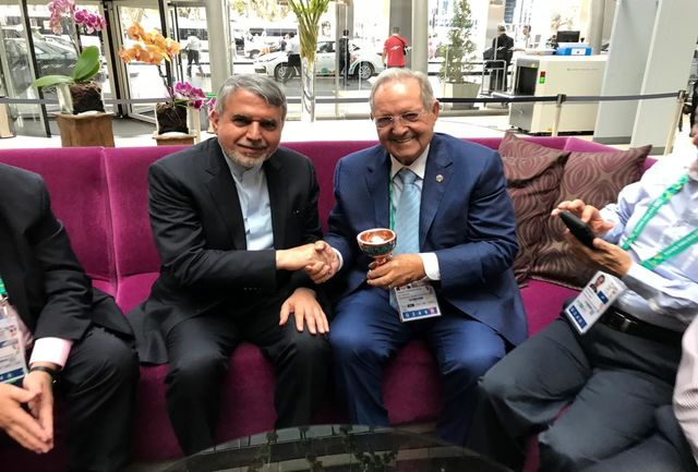 سومین دوره بازیهای المپیک جوانان-2018 بوینسآیرس؛ دیدار صالحیامیری با رئیس فدراسیون جهانی تیراندازی