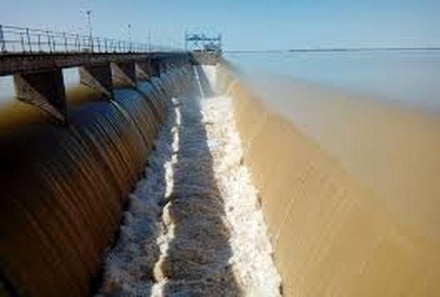 رهاسازی آب سد وشمگیر