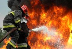 راننده تانکر حامل مواد سوختی در آتش سوخت
