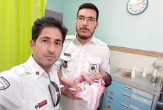 نوزاد رها شده بجنوردی تحویل بیمارستان شد