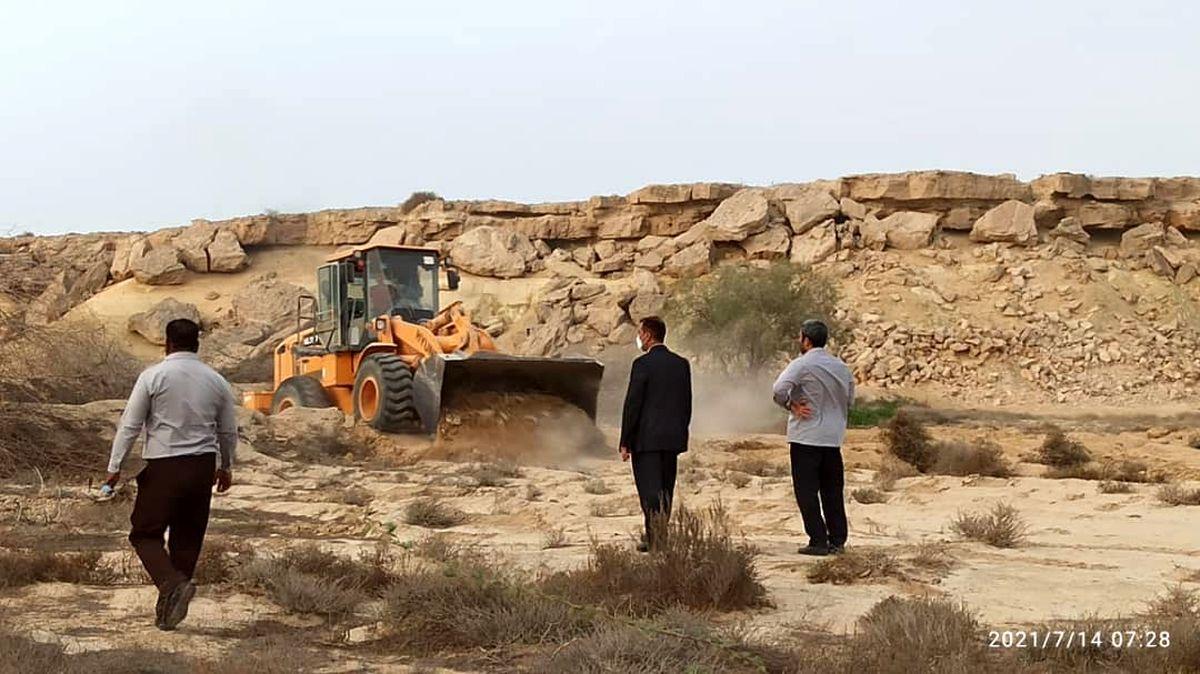 رفع تصرف 24هزار مترمربع اراضی خالصه دولتی به ارزش 120میلیارد ریال در روستای نقاشه قشم