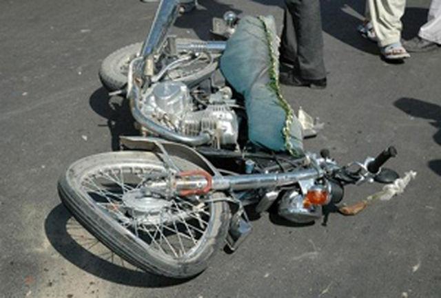 مرگ راکب موتورسیکلت در سانحه رانندگی شهرستان سیب و سوران
