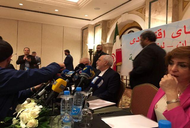 حضور ظریف در نشست تجاری با وزیر اقتصاد و تجار لبنانی/ ببینید
