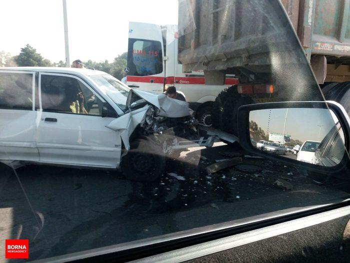 تصادف هولناک در آزادراه تهران- کرج +عکس