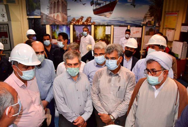 بازدید اعضای کمیسیون انرژی مجلس از نیروگاه های بندرعباس و هنگام (کلاس F)