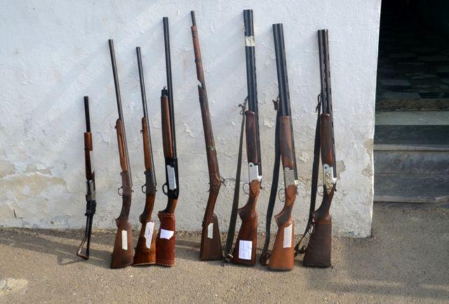 کشف 8 قبضه اسلحه شکاری غیرمجاز در رودسر