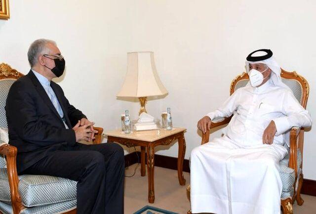 رایزنی سفیر ایران با وزیر مشاور در امور خارجی قطر