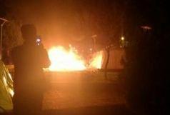آتشسوزی در چادر یکی از زلزلهزدگان در گیلانغرب