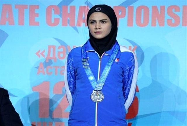 بهمنیار برای کسب مدال برنز کاراته مبارزه می کند