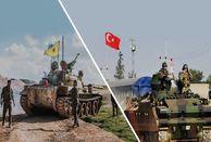 صفآرایی جنگی نیروهای ترکیه و کردهای سوریه