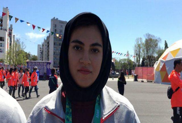 مارال مردانی پرچمدار کاروان ایران در مراسم اختتامیه شد