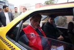 حناچی به مسافران تاکسی پیوست
