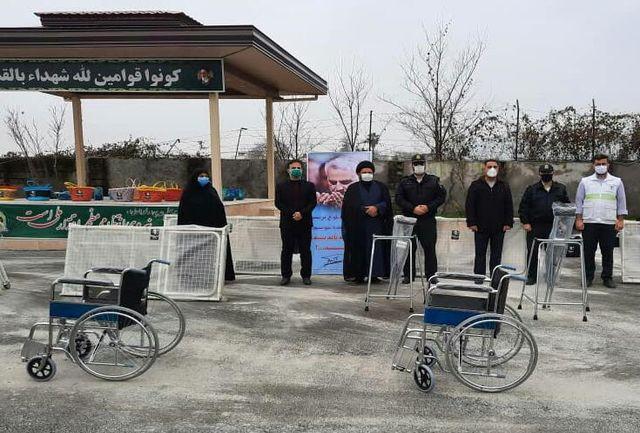 اهداء تجهیزات توانبخشی و بسته های کمک معیشتی به مددجویان بهزیستی لاهیجان