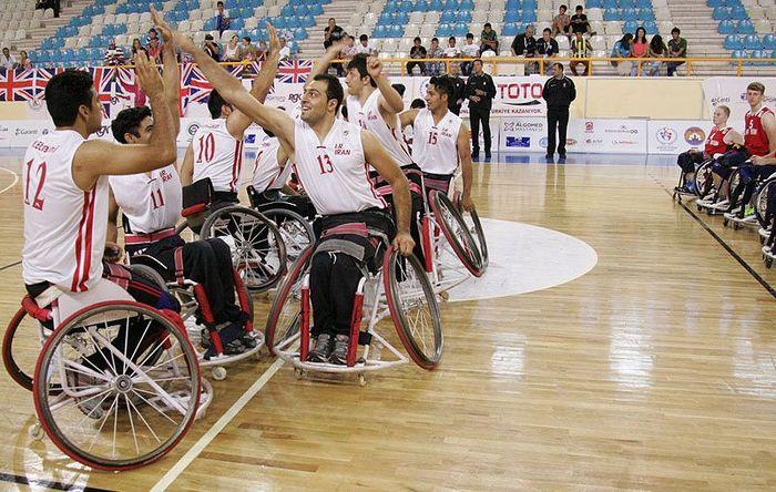 مردان تیم ملی بسکتبال با ویلچر ایران مقابل کره جنوبی به پیروزی رسیدند