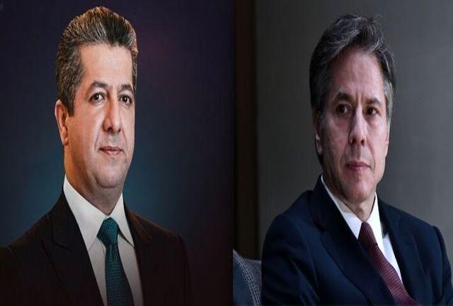 اعتراض شدید مردم عراق به گفت و گوی تلفنی بارزانی با وزیر خارجه آمریکا!