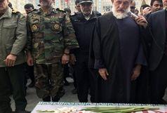 پیکر مطهر دومین شهید حادثه تروریستی نیکشهر در زاهدان تشییع شد