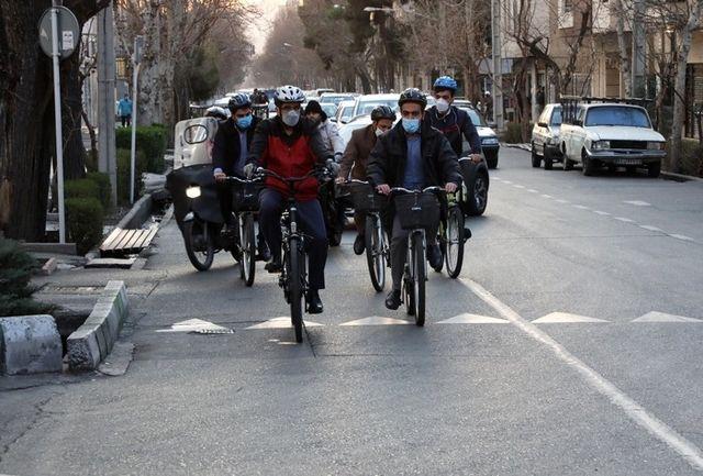 مناسبسازی خیابانهای شهرداری منطقه8 برای دوچرخهسواران