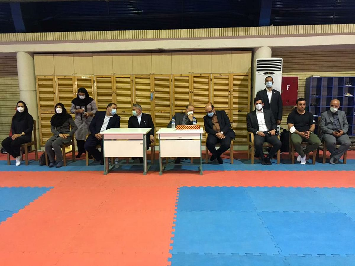 بازدید وزیر ورزش و جوانان و رییس کمیته ملی المپیک از اردوی تیم ملی کاراته