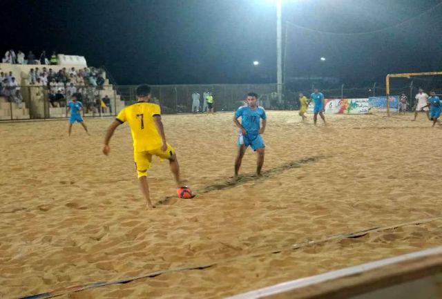 پیروزی تیم فوتبال ساحلی منطقه آزاد چابهار مقابل شهرداری سمنان