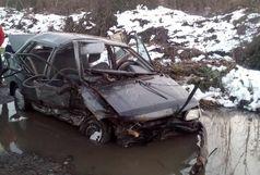 5 مصدوم براثر واژگونی خودروی پراید/اعزام دو تیم فوریتهای پزشکی در حادثه ترافیکی جاده تهران