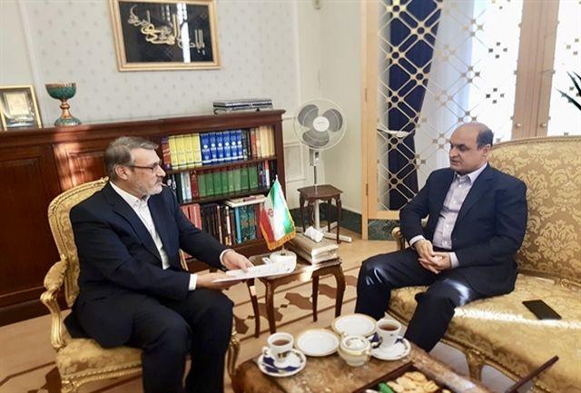 دیدار معاون امور دریایی سازمان بنادر با سفیر و نماینده دائم ایران در لندن