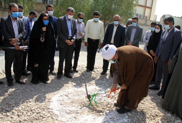 آغاز عملیات اجرایی مدرسه 6 کلاسه در شهر قلعه قاضی