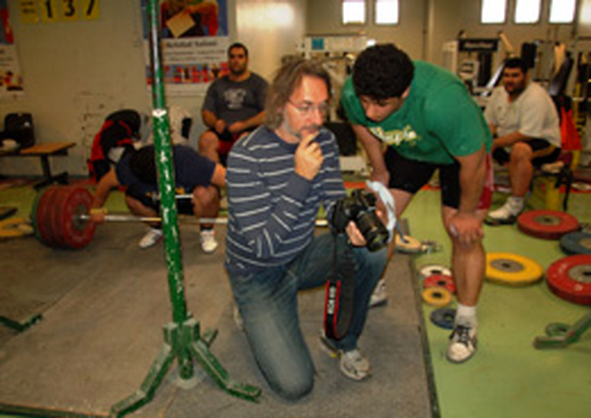 اسطوره والیبال ایتالیا در تمرینات تیم ملی وزنهبرداری