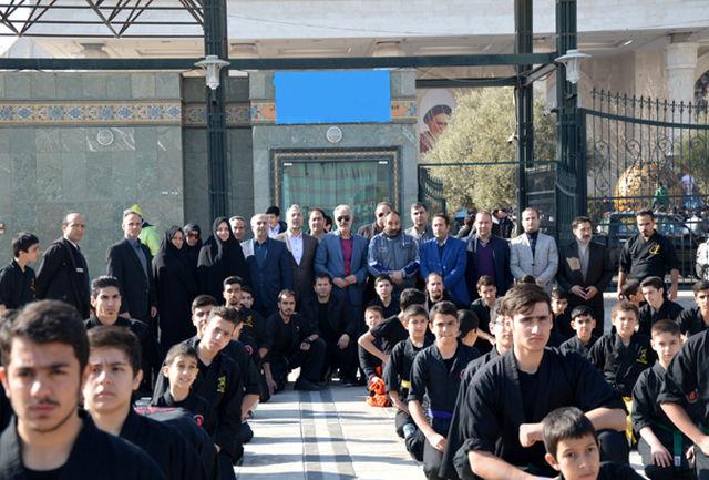 حضور باشکوه جامعه ورزش و جوانان استان تهران در مرقد مطهر امام خمینی (ره)
