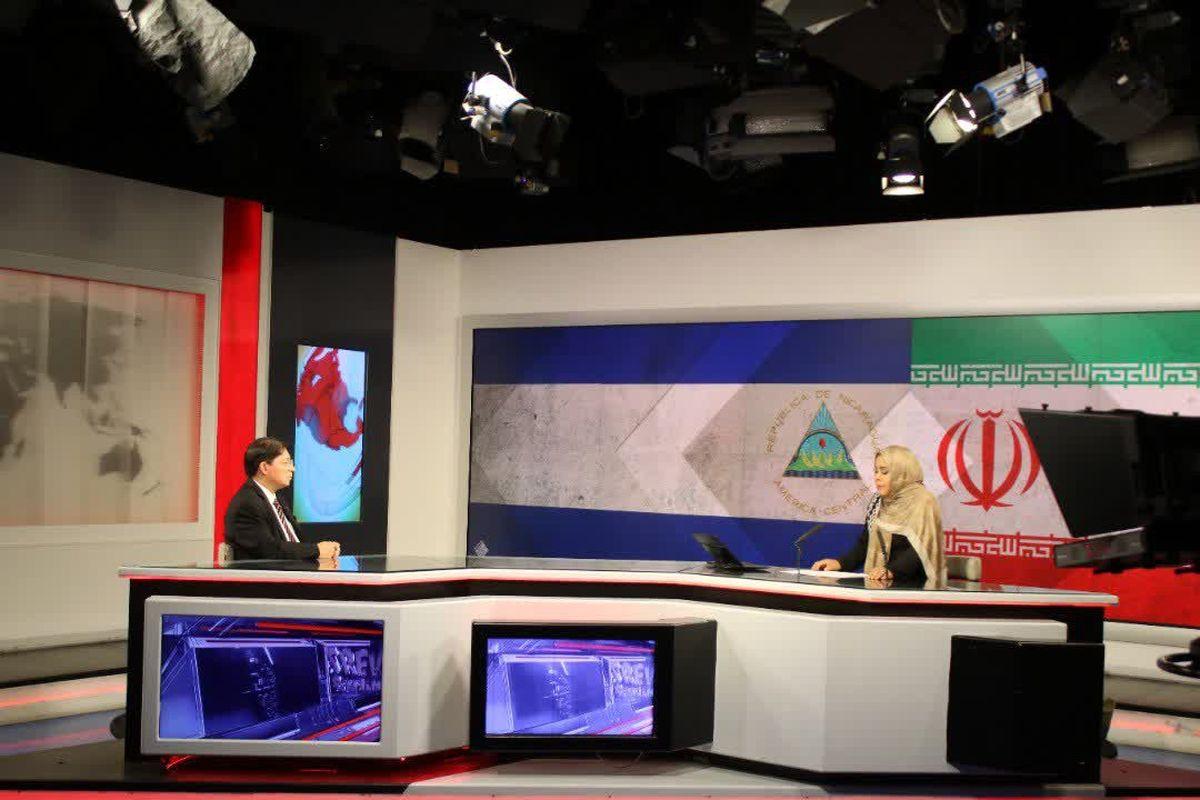 بازدید وزیر خارجه نیکاراگوئه از شبکه تلویزیونی