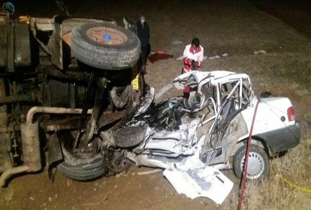 تصادف شدید سه کشته برجا گذاشت