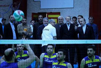 بازدید رییس مجلس و وزیر ورزشوجوانان از اردوی تیمهای جانبازان و معلولین