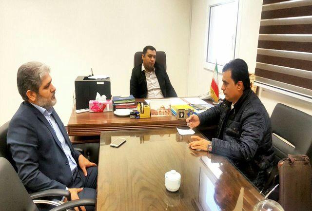 دیدار مسئول خبرگزاری برنا تهران با رییس اداره فرهنگ و ارشاد قدس